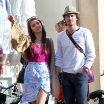 Ian Somerhalder and Nina Dobrev Sighting