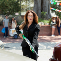 Raydor with a gun