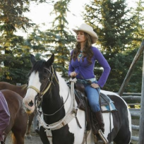 Gloria on Horseback