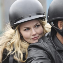 Emma-on-a-motorcycle