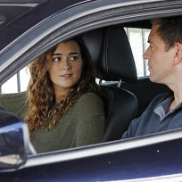 Ziva in the Car