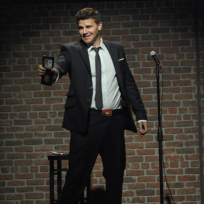 Stand-up-comedian-booth