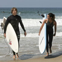 Kensi and Deeks Surfing