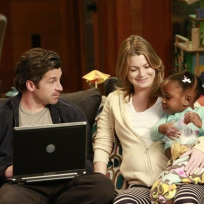 Derek, Meredith and Zola Picture