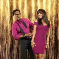 D.L Hughley and Cheryl Burke