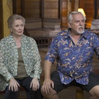 John Ratzenberger and Millicent Martin on Bones