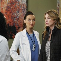 Meredith Looks Concerned