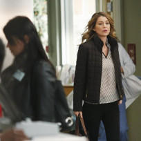 Meredith Looks Distracted
