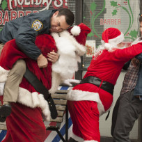 Fighting santas