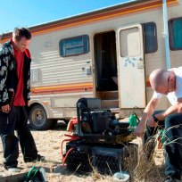 Walter and Jesse on Breaking Bad