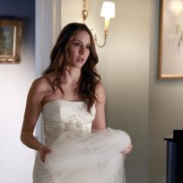 Spencer's Fidgeting with her Dress