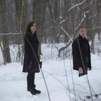 Elizabeth and Ressler in the Snow