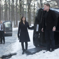 Elizabeth, Ressler and an Overturned Van