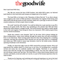 Good wife letter