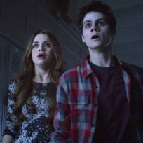 Stiles and Lydia Watch with Shock