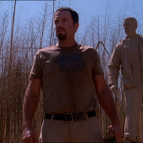 Jayne and his statue