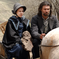 Cullen and his wife - Hell on Wheels Season 4 Episode 2