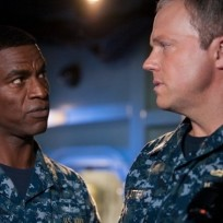 Two men on the last ship