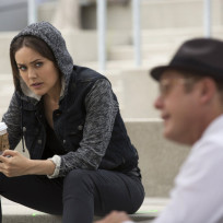Liz and red meet on the steps the blacklist s2e1
