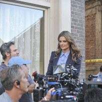 Behind the Scenes - Stana Katic - Castle