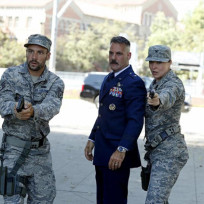 Talbot, Izzy Hartley and Lance Hunter - Agents of S.H.I.E.L.D. Season 2 Episode 1