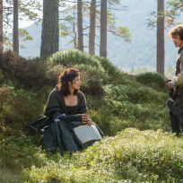 Claire and Jamie Share a Moment - Outlander Season 1 Episode 6