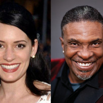 Paget brewster and keith david pic