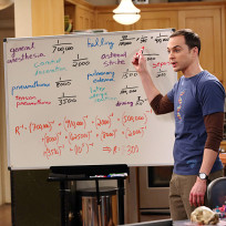Sheldon at whiteboard