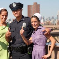 With a cop breaking amish
