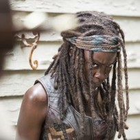 Angry michonne the walking dead s5e8