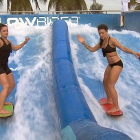 The surfers challenge the amazing race