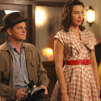 Wendell and angela sport their 1950 s attire bones s10e10