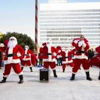 A santa flash mob major crimes