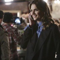 Kate looks happy castle