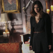 Elena looks on the vampire diaries