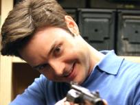 Steve Newlin Holds his Gun