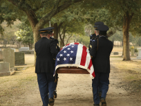 Flag-Draped Casket