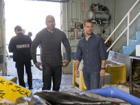 Sam and Callen at the Fish Market
