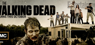 The walking dead comic con poster