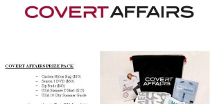 Covert affairs prize pack