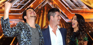 Alex and sierra with simon cowell