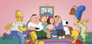 Simpsons slash family guy