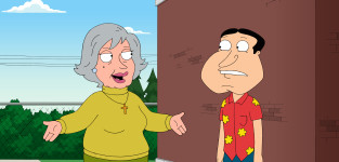 Mom arrives family guy