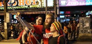 The selfie stick the amazing race