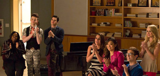 In the choir room glee season 6 episode 12