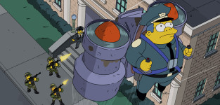 Jet pack debacle the simpsons