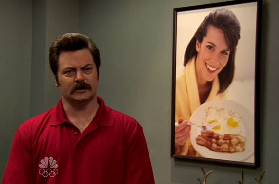 Nick Offerman as Ron Swanson in Parks & Recreation