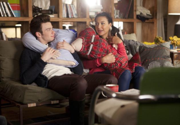 Kurt with Santana