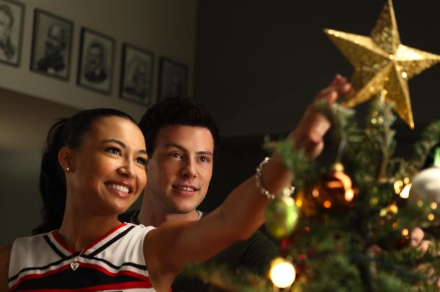Finn and Santana on Xmas
