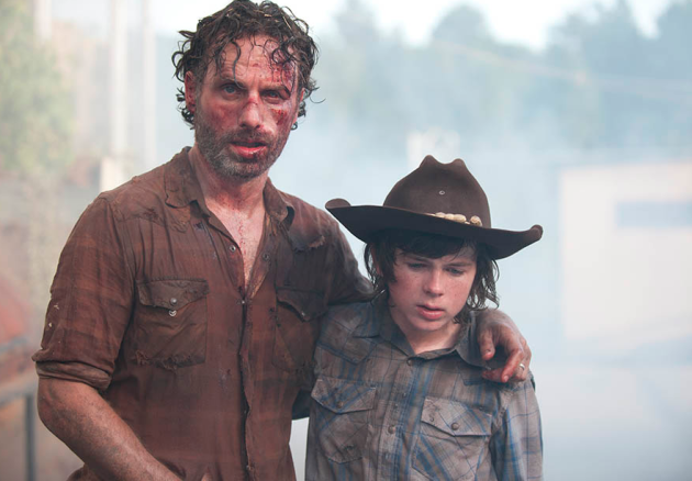 Rick and Carl Scene